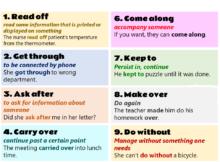 phrasal verbs test engleza online